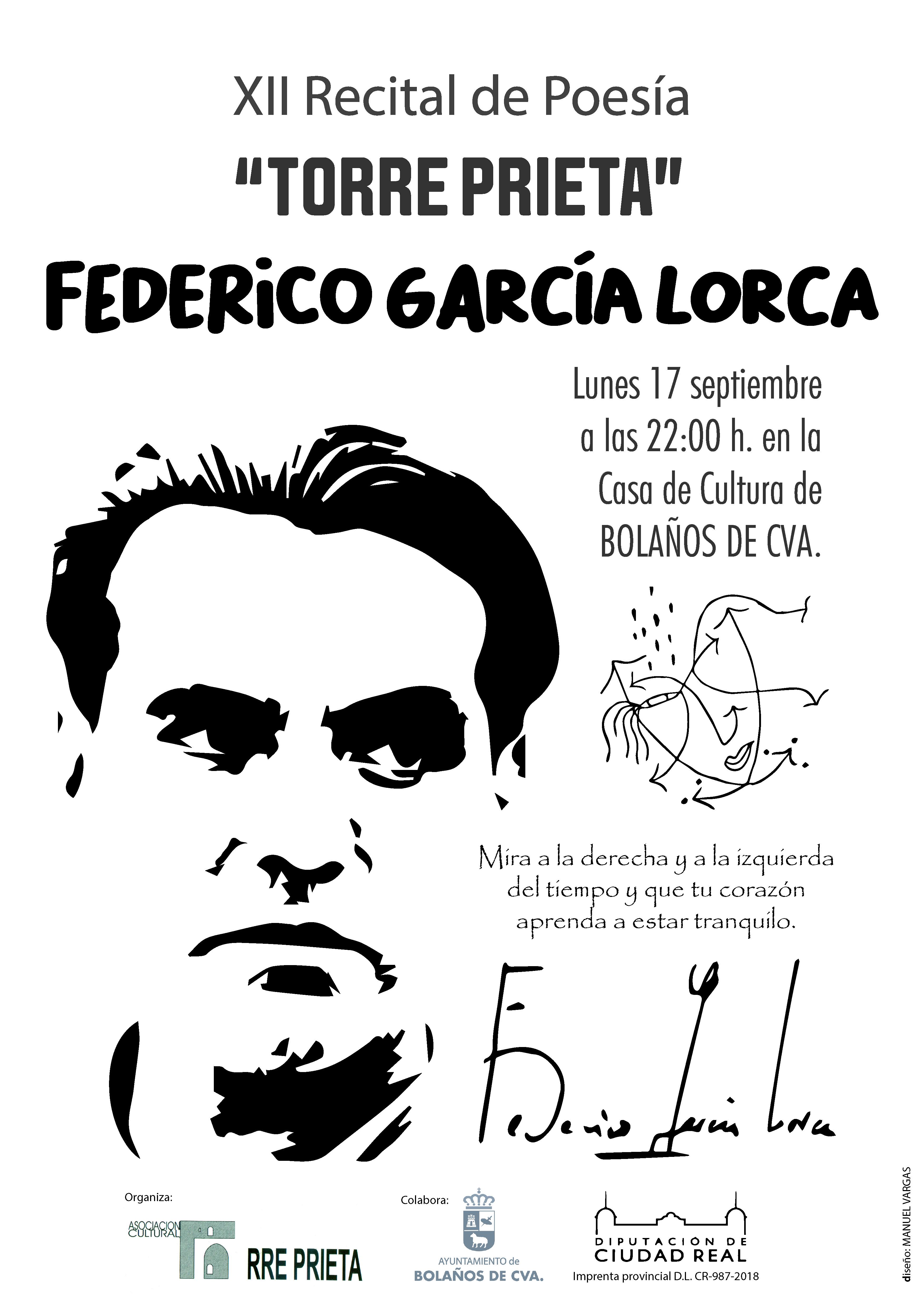 """XII RECITAL DE POESÍA """"TORRE PRIETA"""" EN BOLAÑOS"""