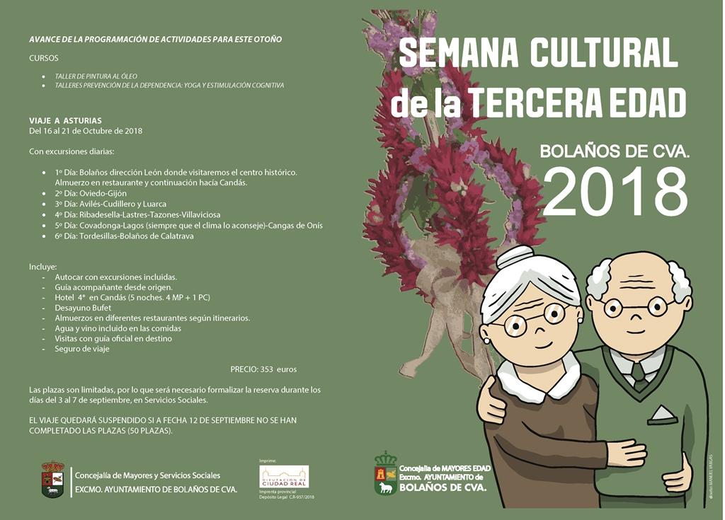 SEMANA CULTURAL DE LA TERCERA EDAD BOLAÑOS 2018