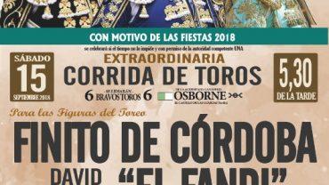 GRAN CARTEL TAURINO PARA LA FERIA Y FIESTAS 2018
