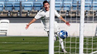 EL BOLAÑEGO FRAN GARCÍA MARCA EN LA VICTORIA DEL REAL MADRID EN LA UEFA