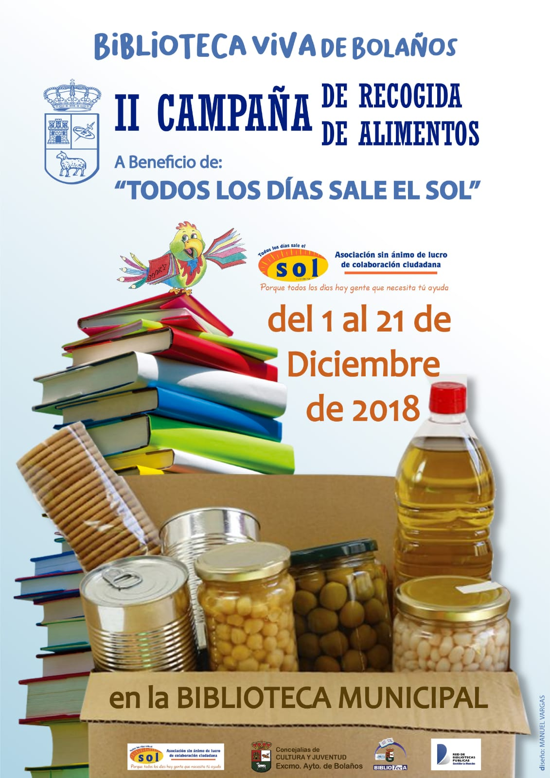 II CAMPAÑA DE RECOGIDA DE ALIMENTOS EN LA BIBLIOTECA