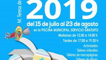 DEL 15 DE JULIO AL 23 DE AGOSTO BIBLIOPISCINA 2019
