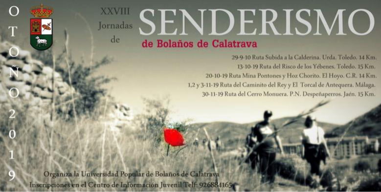 XXVIII JORNADAS DE SENDERISMO DE BOLAÑOS DE CALATRAVA