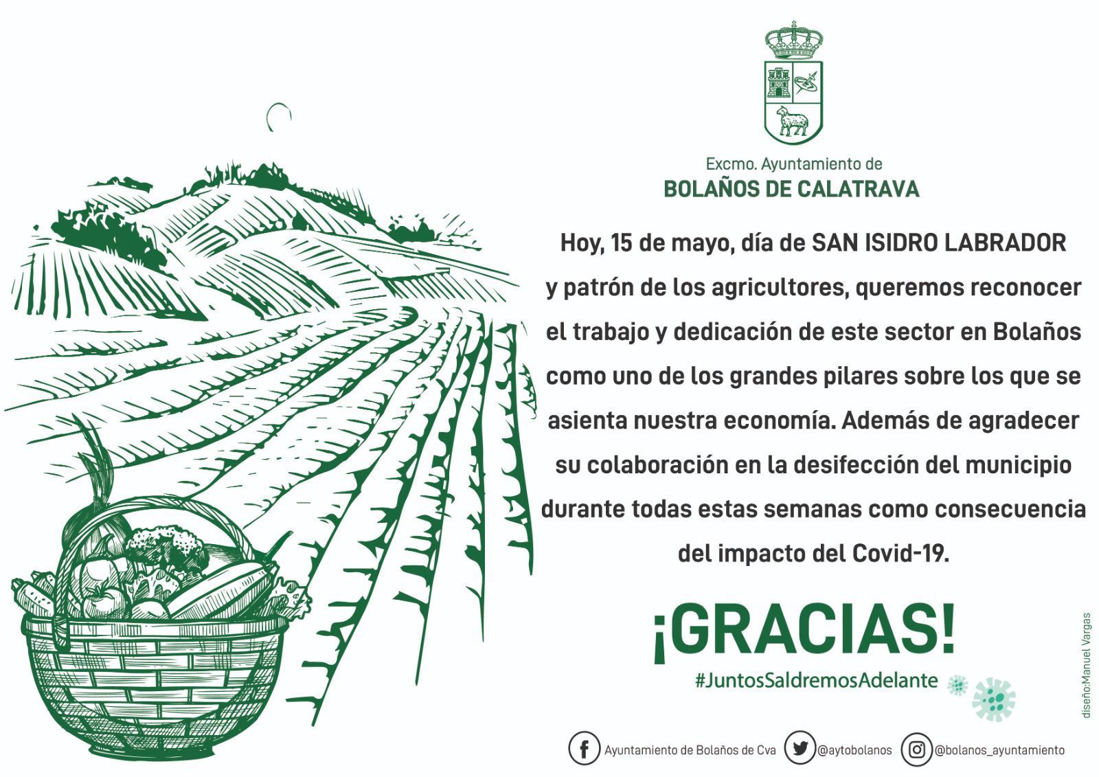 Ayuntamiento de Bolaños cartel san isidro